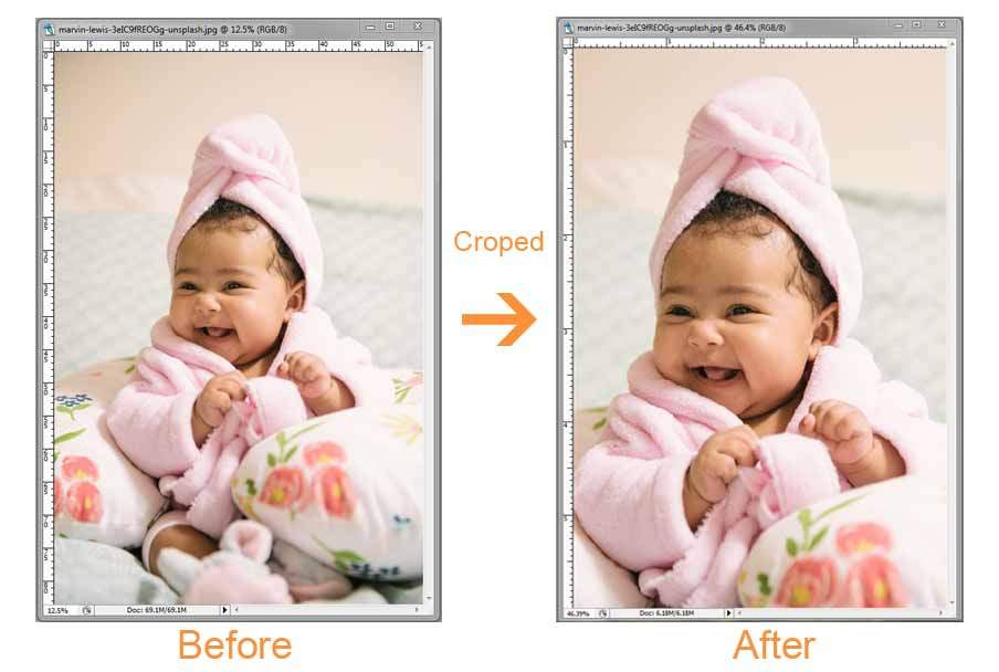 Photoshop Tools in Hindi crop tool