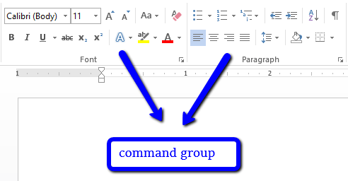 command group -What is ms word