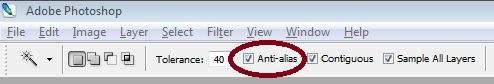 Anti alias - magic wand tool