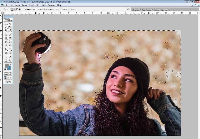 How to use magic wand tool in Photoshop